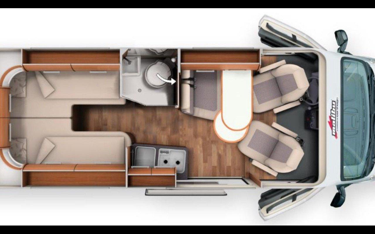 Integrierter CARTHAGO c-tourer I 144 LE. Automatik bei Caravan-Herrmann in Mülheim an der Ruhr